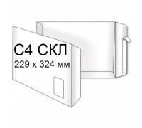 Конверт Пакет С4 (0+1) СКЛ с окном внизу (250 шт. в уп.)