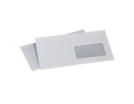 Конверт С65 (0+1) окно мокроклеющийся (автомат) (1000 шт. в уп.) 114 х 229 мм.