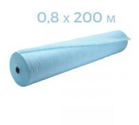 Простынь одноразовая голубая 0,8x200 п.м в рулоне