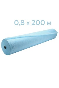 Простынь одноразовая голубая 0,8x200 в рулоне пл 20