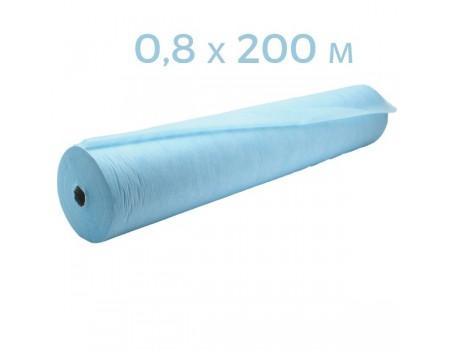 Простынь одноразовая голубая с перф 0,8x200 п.м в рулоне пл 20